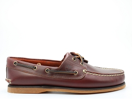 TRUECLOUD EK CANVAS OXFORD CLASSIC BOAT:CUIR GRAS/MARRON/CARRY OVER/NON DOUBLE/GOMME