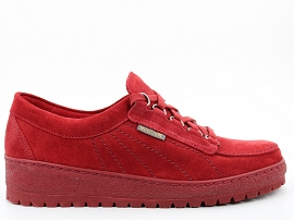 7000H00 LADY:NUBUCK/ROUGE/NEW/CUIR/GOMME