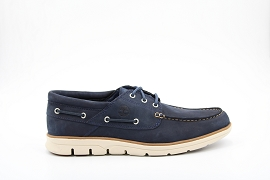 RAINBOW BRADSTREET 3 EYES BOAT W:NUBUCK/MARINE/CARRY OVER/CUIR +AUTRES MATERIAUX/GOMME