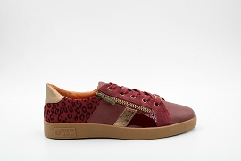 PAMPA SOLEA SKW F BORA:CUIR/BORDEAUX/NEW/CUIR/GOMME