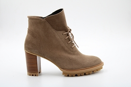 269004 LOOPY:NUBUCK/TAUPE/NEW/CUIR/GOMME