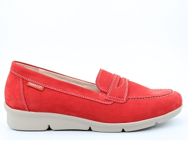 JUNE DIVA:NUBUCK/ROUGE/NEW/CUIR/GOMME
