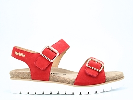 HELEN MIX TARINA:NUBUCK/ROUGE/NEW/CUIR/GOMME