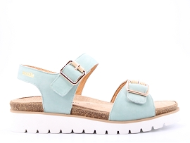2750 COT TARINA:NUBUCK/VERT/NEW/CUIR/GOMME