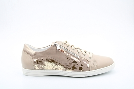AMELIE 5 HAWAI SHINY:NUBUCK/TAUPE/NEW/CUIR/GOMME