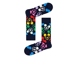 CHAUSSETTES LINER DOT H  MICKEY:COTON/NOIR/NEW//
