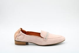 GAME SUD ZAVON:NUBUCK/ROSE/NEW/CUIR/ELASTHOMERE