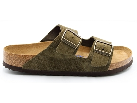 FETE ARIZONA:SUEDE/KAKI/NEW/NON DOUBLE/GOMME