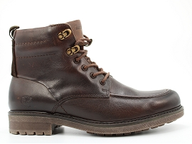 MADRID METAL OAKROCK BOOT:CUIR/MARRON/NEW/CUIR +AUTRES MATERIAUX/GOMME