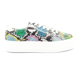 MAUREEN PLATO SNEAKER:CUIR IMPRESSION REPTILE/MULTI/NEW/CUIR +AUTRES MATERIAUX/GOMME