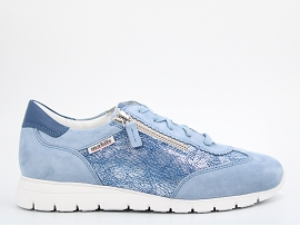 DONIA<br>CUIR + AUTRES MATERIAUX BLEU NEW CUIR GOMME