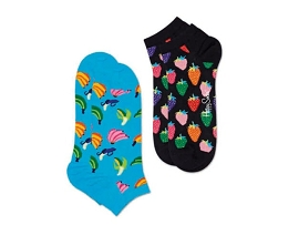 K200686 CHAUSSETTES 2PACK LOW BANANA:COTON/MULTI/NEW//