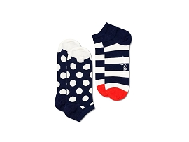 BRIFAN CHAUSSETTES 2PACK LOW BIG DOT STRIPE:COTON/MULTI/NEW//
