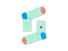 CHAUSSETTES DOT CHAUSSETTES CREW EMBROIDERY HEART:COTON/MULTI/NEW//