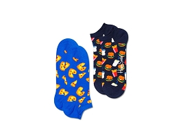 DAVIS SQUARE OX Y CHAUSSETTES 2PACK LOW JUNK FOOD:COTON/MULTI/NEW//