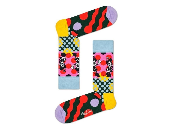 Happy socks chaussettes mickey violet