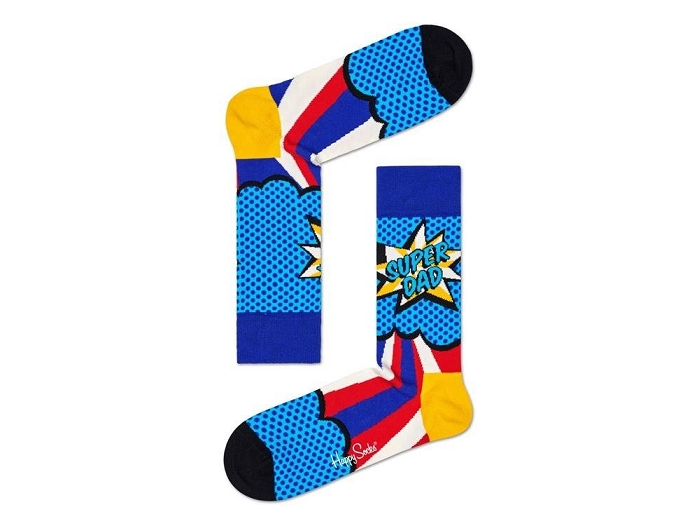 Happy socks chaussettes chaussettes super dad multi